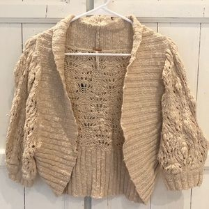 Free People chunky knit cotton sweater size small